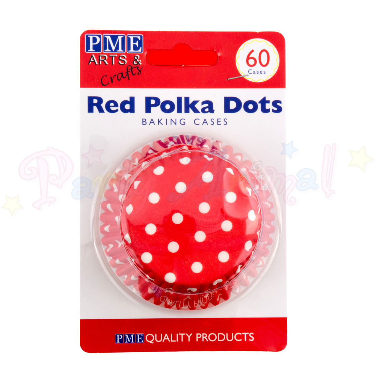 PME Bun / Cupcake Cases RED POLKA DOTS - Pack of 60