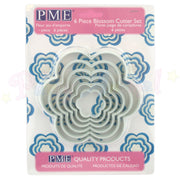 PME Plastic LARGE Cutters Set of 6 - BLOSSOM