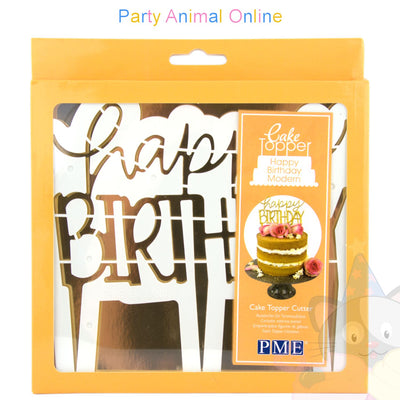PME Cake Topper Cutter - Happy Birthday Modern