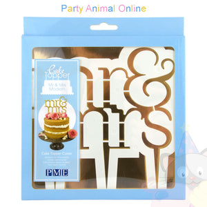 PME Cake Topper Cutter - Mr & Mrs Modern