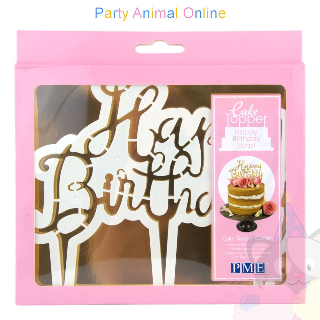 PME Cake Topper Cutter - Happy Birthday Script