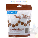 PME Candy Buttons CHOCOLATE BROWN - Chocolate Flavoured 340g