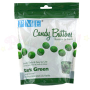 PME Candy Buttons DARK GREEN - Vanilla Flavoured 340g