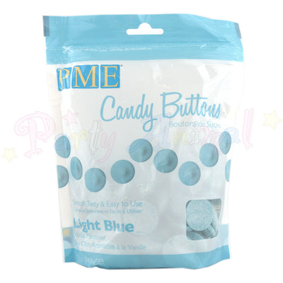 PME Candy Buttons LIGHT BLUE - Vanilla Flavoured 340g