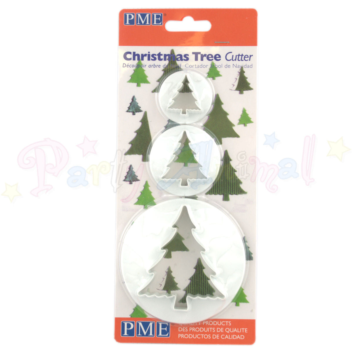 PME Christmas Tree Cutters Set of 3