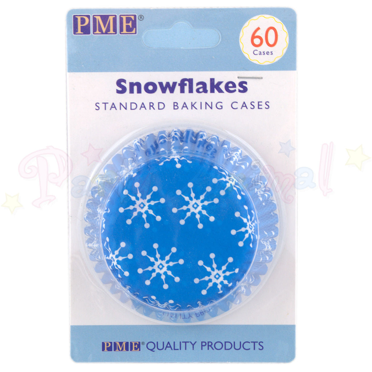 PME Bun / Cupcake Cases BLUE SNOWFLAKE - Pack of 60