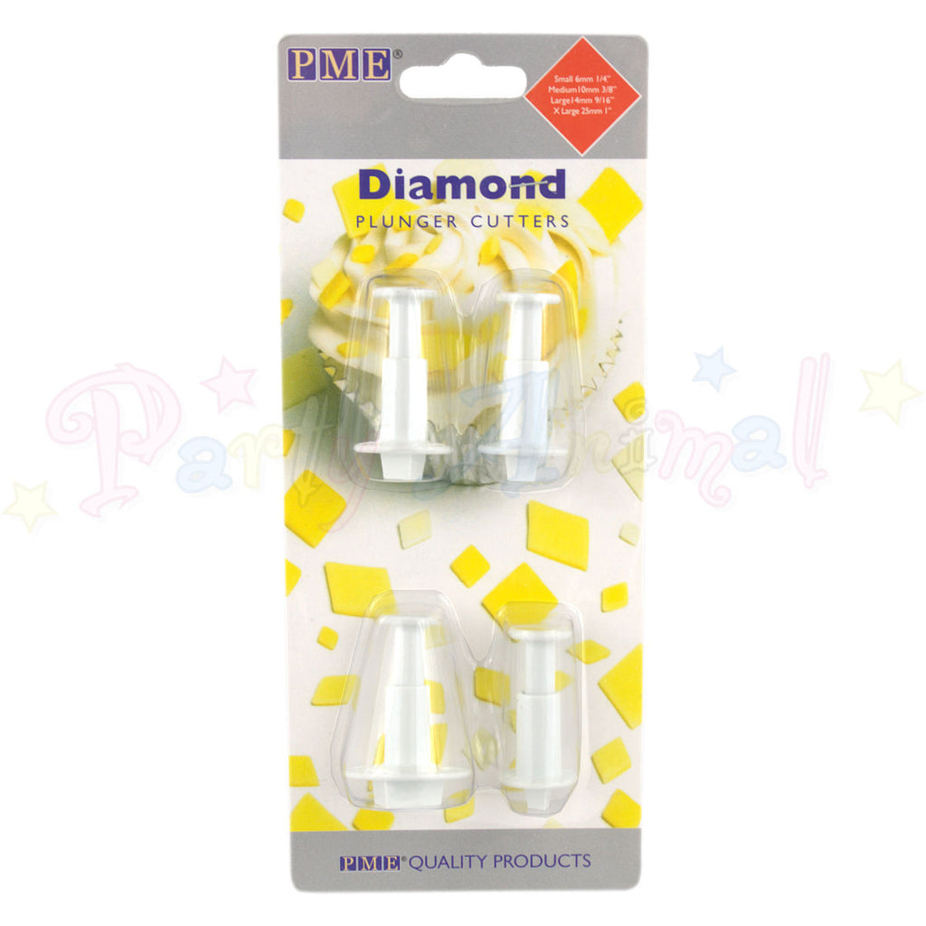 PME Geometric Plunger Cutters DIAMOND - set of 4