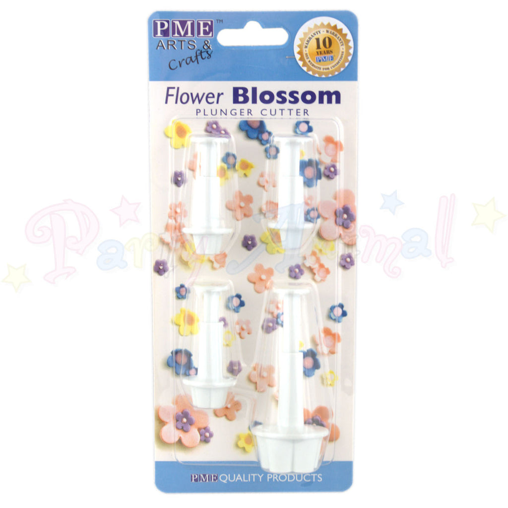 PME Blossom Plastic Plunger Cutters Set of 4