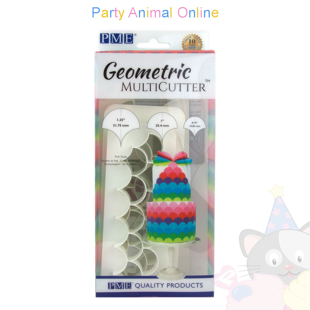 PME Geometric Multicutter Fish Scales Set of 3