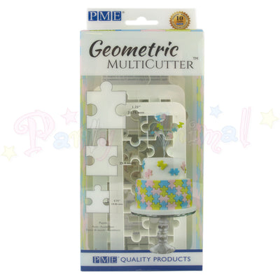 PME Geometric Multicutter Puzzle Piece Set of 3