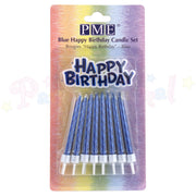 PME Birthday Candles and Motto - Blue