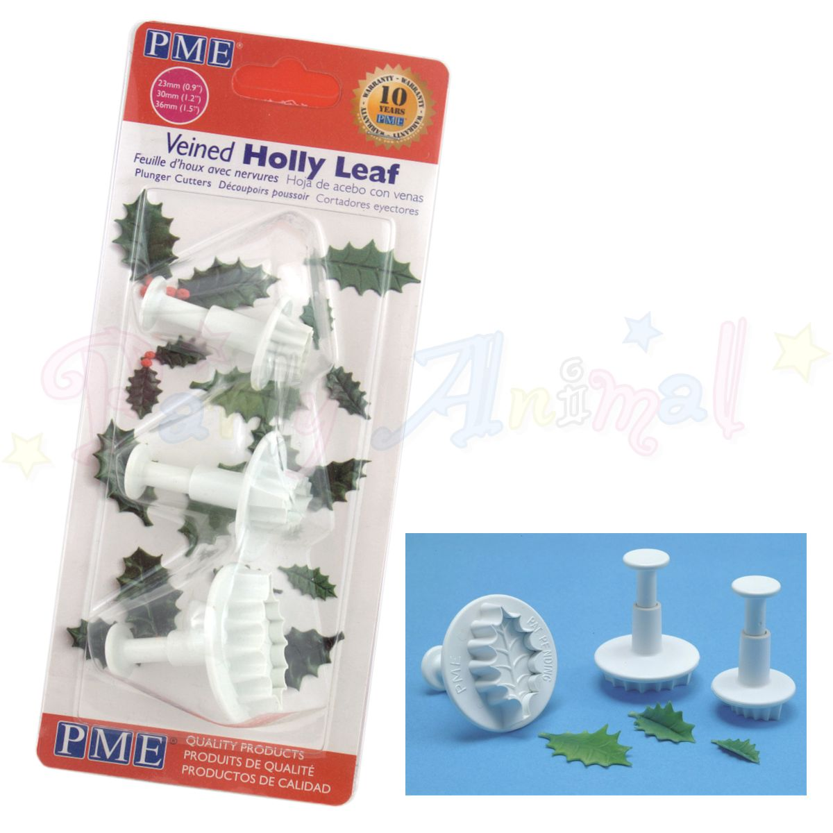 PME Holly Leaf Plunger Cutters Set of 3
