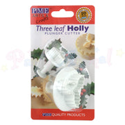 PME Triple Leaf Holly Plunger Cutters Set of 2