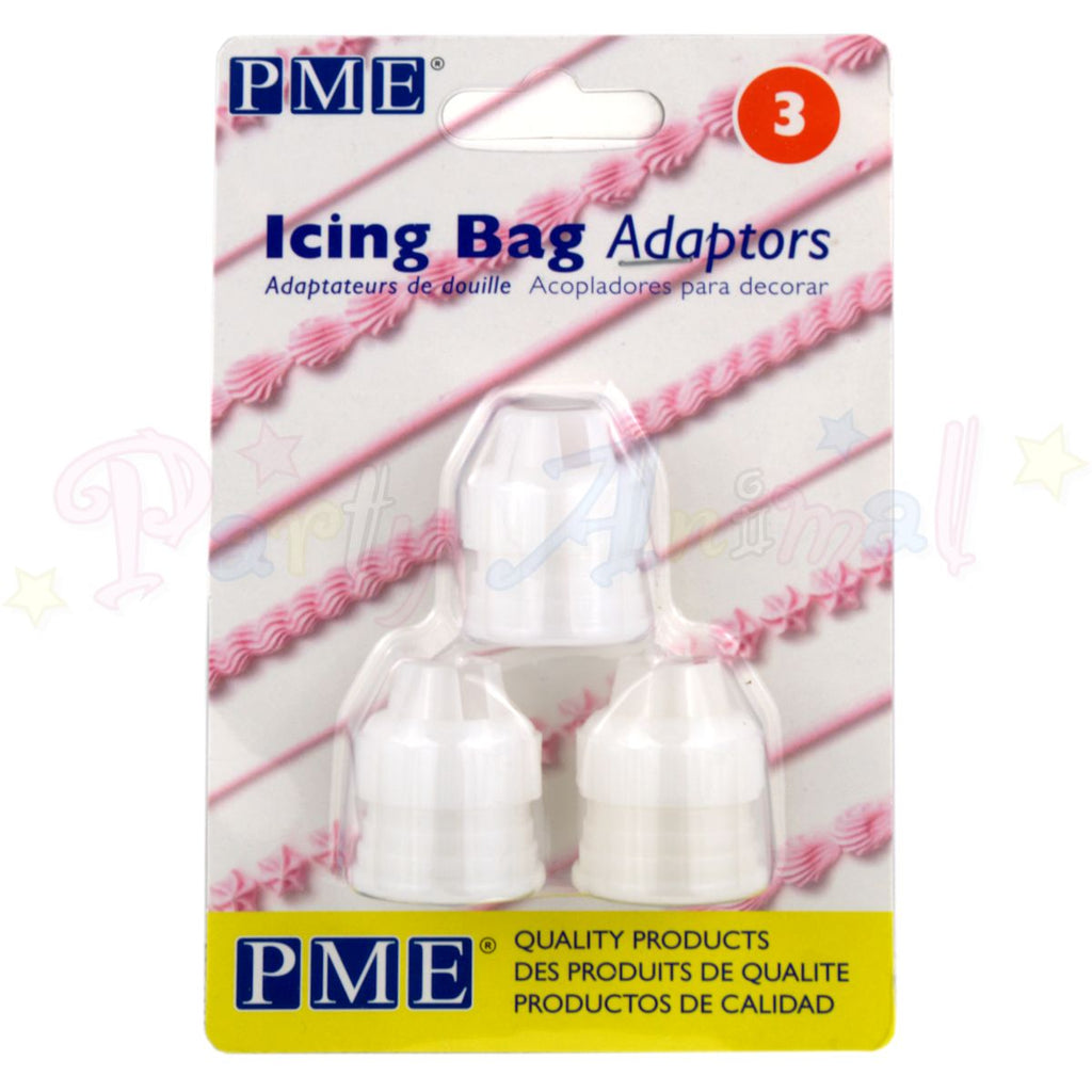 PME Icing Bag Adaptors - Set of 3