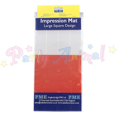 PME Impression Tools - SQUARE Design LARGE Embossing Mat