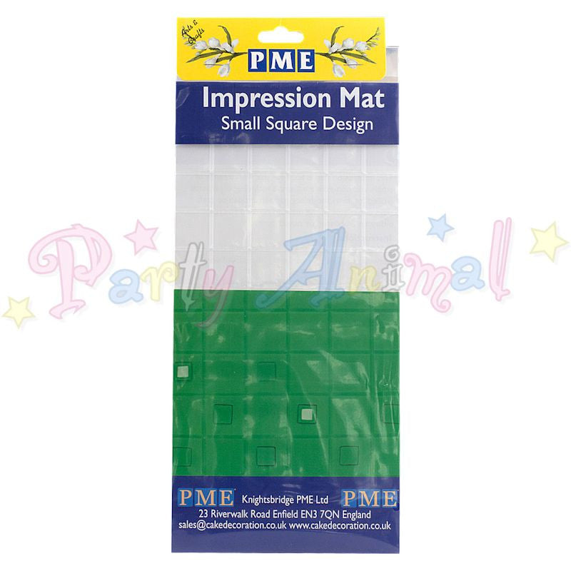 PME Impression Tools - SQUARE Design SMALL Embossing Mat