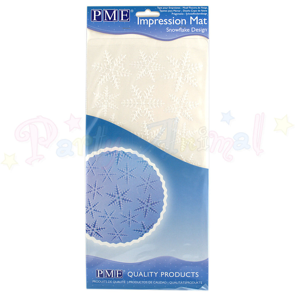 PME Impression Tools - SNOWFLAKE Design Embossing Mat