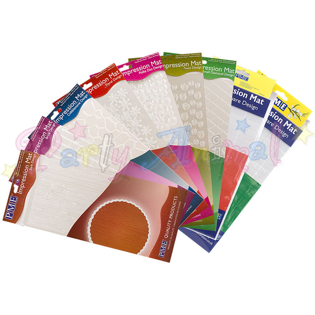 PME Impression Tools - Design Embossing Mats Set of 10
