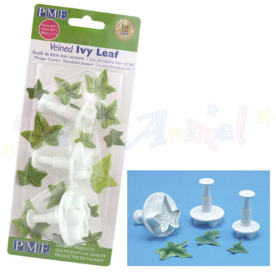PME Ivy Leaf Plunger Cutters Veiners Set of 3