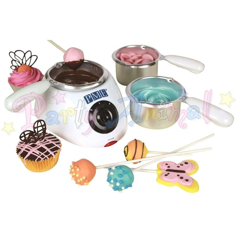 PME Electric Chocolate Melting Pot - 3 pots - UK plug