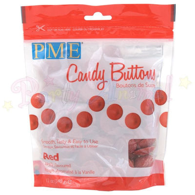 PME Candy Buttons RED - Vanilla Flavoured 340g