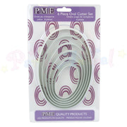 PME Plastic LARGE Cutters Set of 6 - OVAL