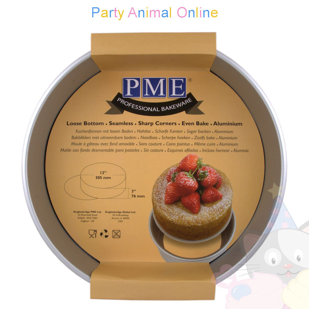 "12"" Round PME Loose Bottom Cake Pan"