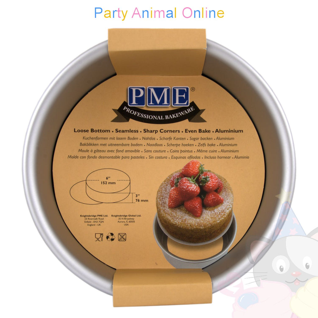 "6"" Round PME Loose Bottom Cake Pan"
