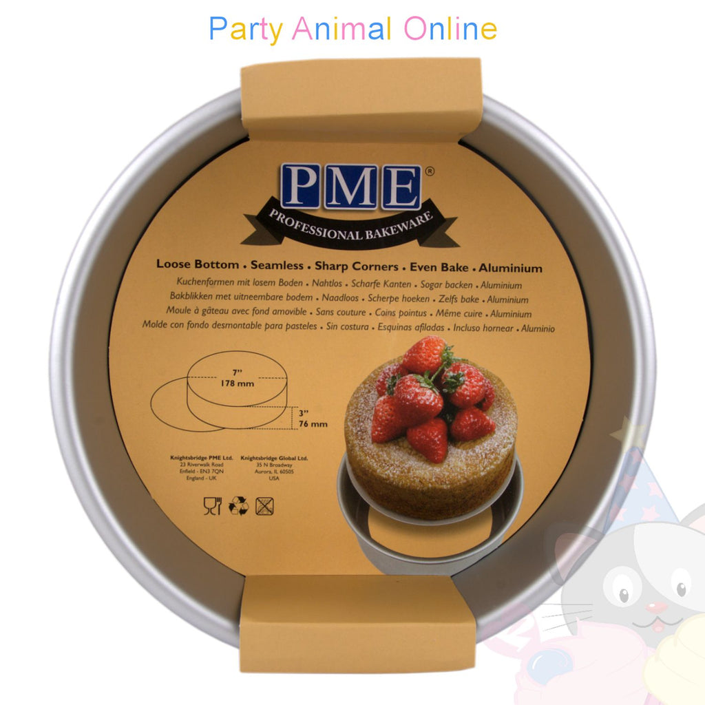 "7"" Round PME Loose Bottom Cake Pan"