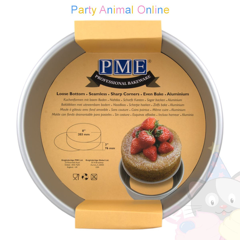 "8"" Round PME Loose Bottom Cake Pan"