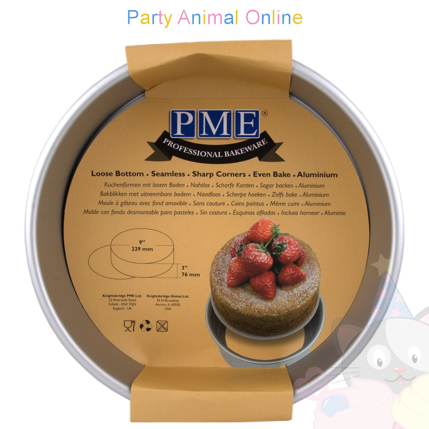 "9"" Round PME Loose Bottom Cake Pan"