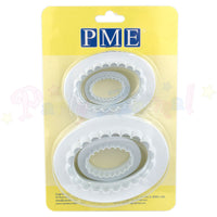 PME Oval Plain & Fluted Plaque cutters Set of 4