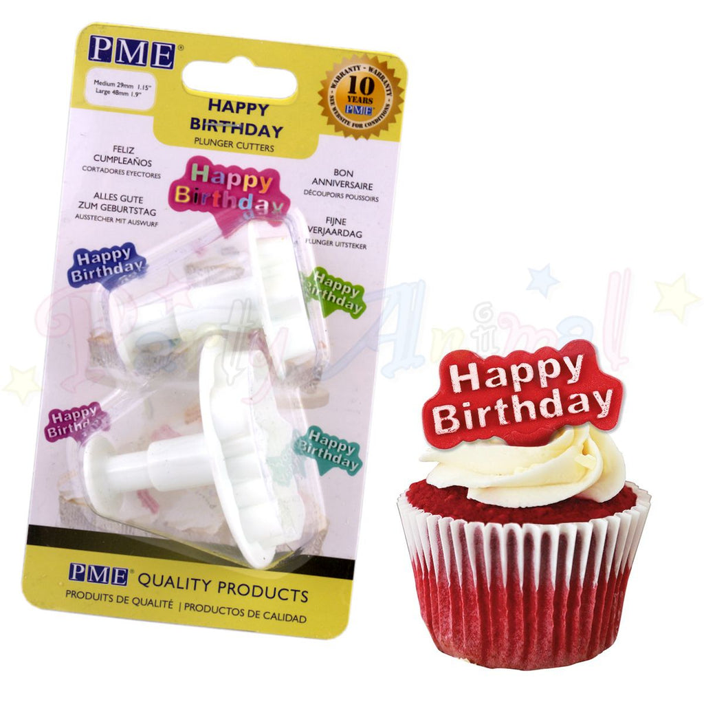 PME Happy Birthday Plunger Cutter Set of 2