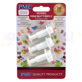 PME Mini Butterfly Plunger Cutters Veiners Set of 3