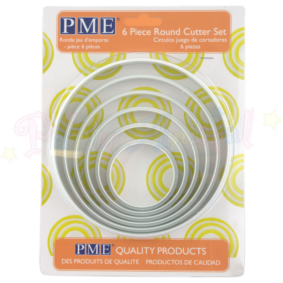 PME Plastic LARGE Cutters Set of 6 - ROUND