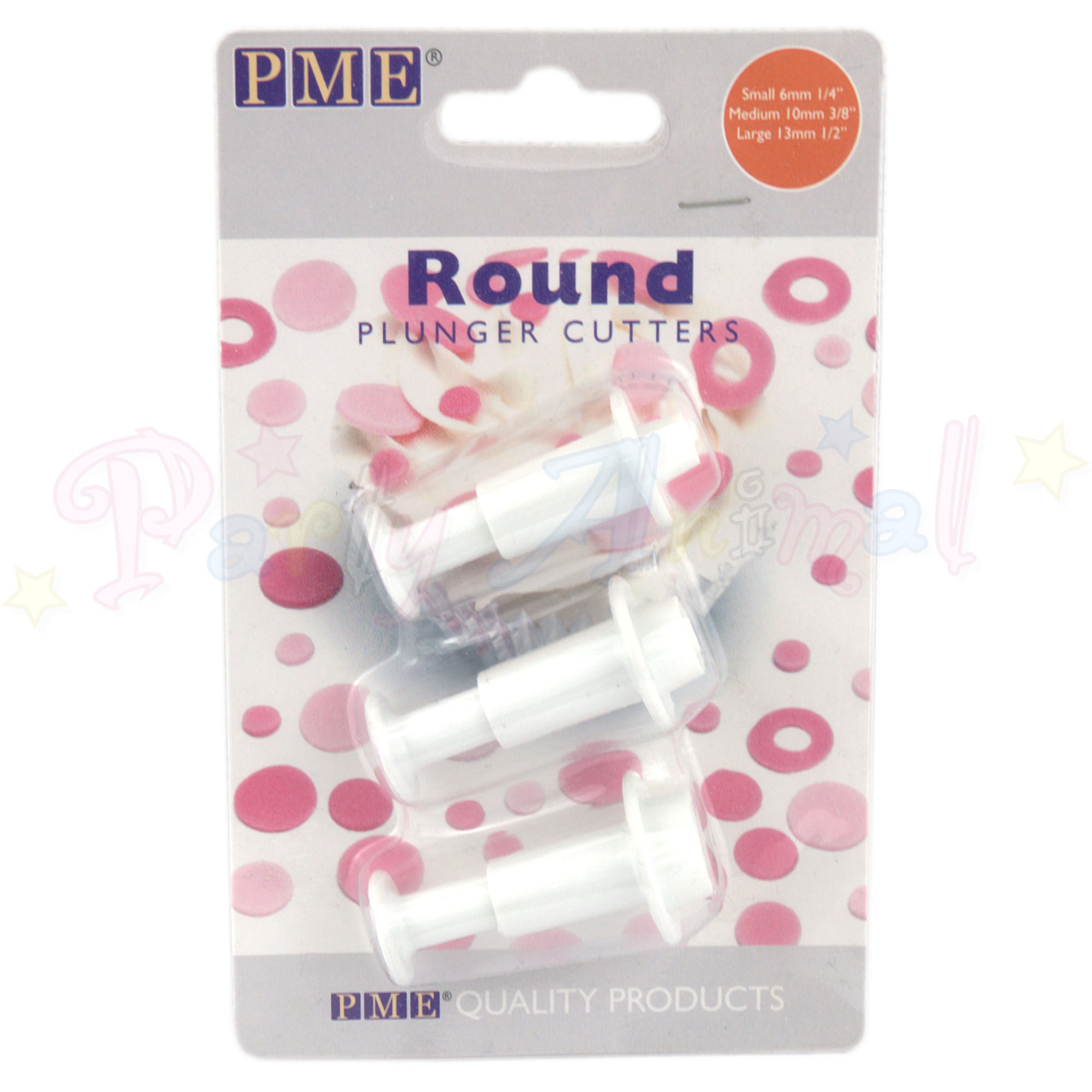 PME Geometric Plunger Cutters ROUND - set of 3