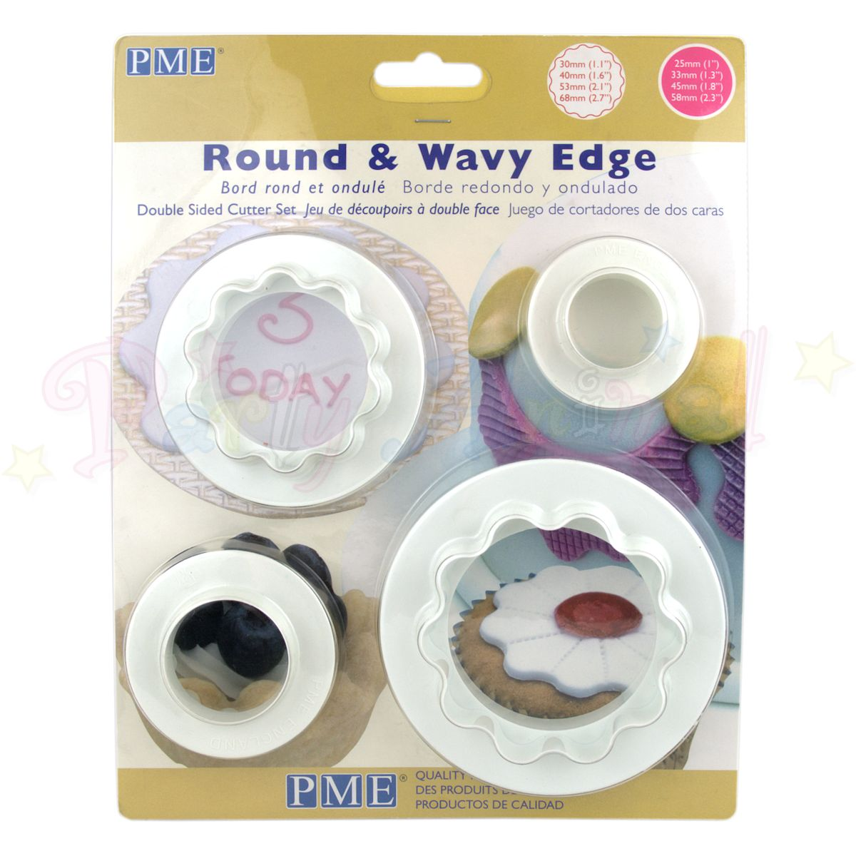 PME Round & Wavy Edge Plaque Cutters Set of 4