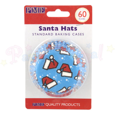 PME Bun / Cupcake Cases SANTA HATS -Pack of 60