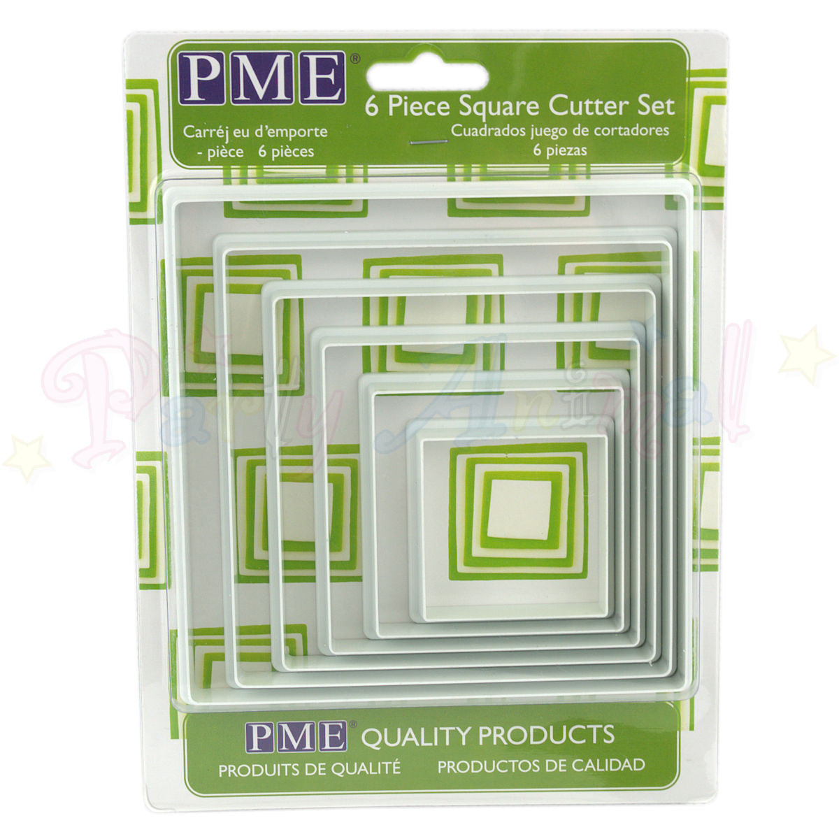 PME Plastic LARGE Cutters Set of 6 - SQUARE