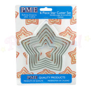 PME Plastic LARGE Cutters Set of 6 - STAR