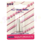 PME Seamless Stainless Steel Piping Icing Tube 7 Star