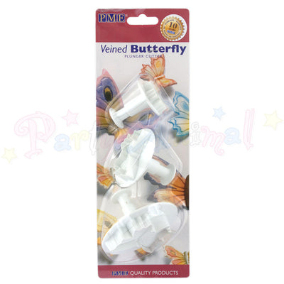 PME Butterfly Plunger Cutters Veiners Set of 3