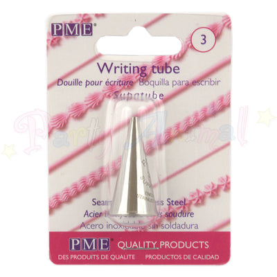 PME Seamless Stainless Steel Piping Icing Tube 3 Plain Writer
