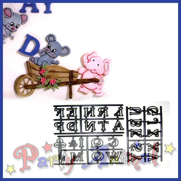 Patchwork Cutters Alphabet LARGE LETTERS & KEY