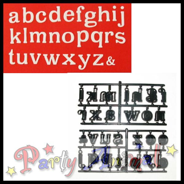 Patchwork Cutters Alphabet LARGE Lower Case