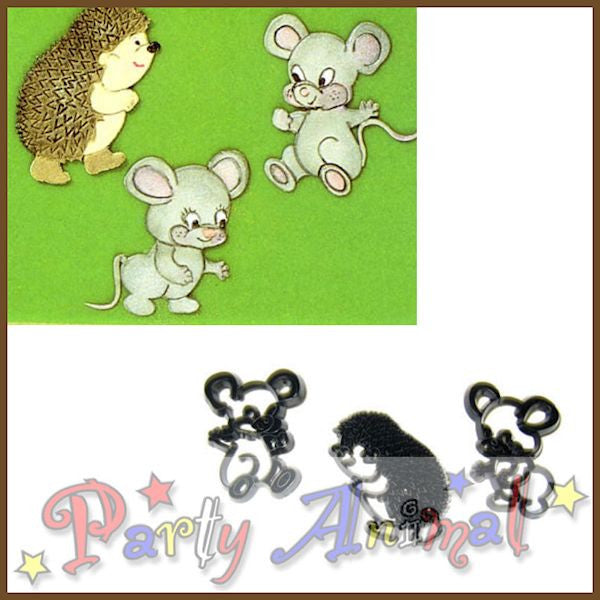 Patchwork Cutters MICE and HEDGEHOGS Set