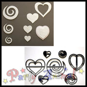 Patchwork Cutters HEARTS & SWIRLS SET