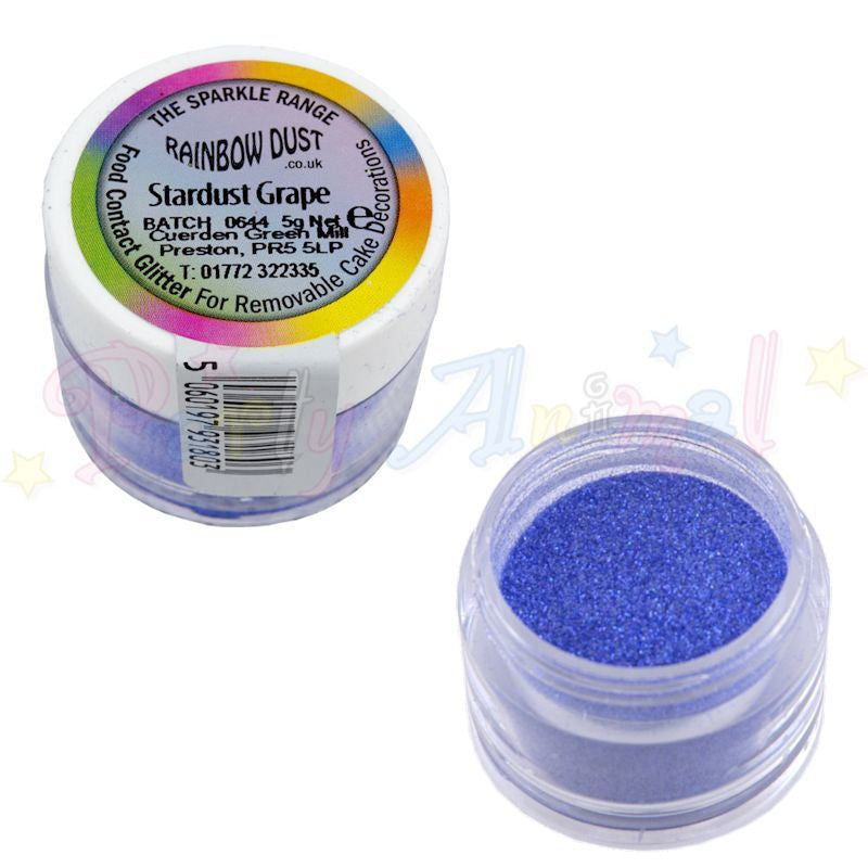 Rainbow Dust Glitter Sparkle Range - STARDUST GRAPE
