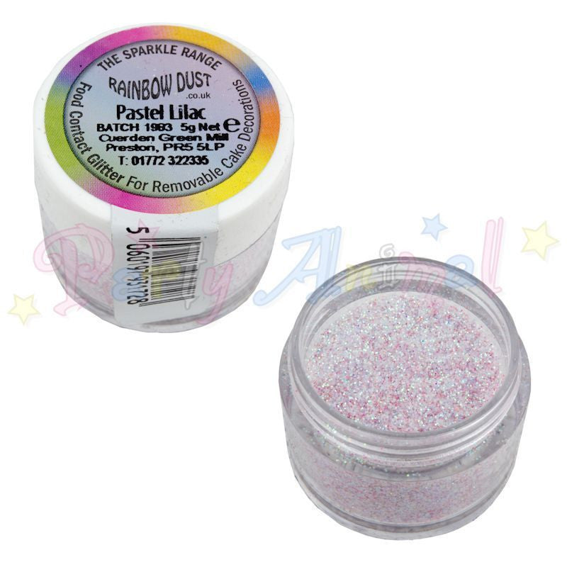 Rainbow Dust Glitter Sparkle Colours - PASTEL LILAC