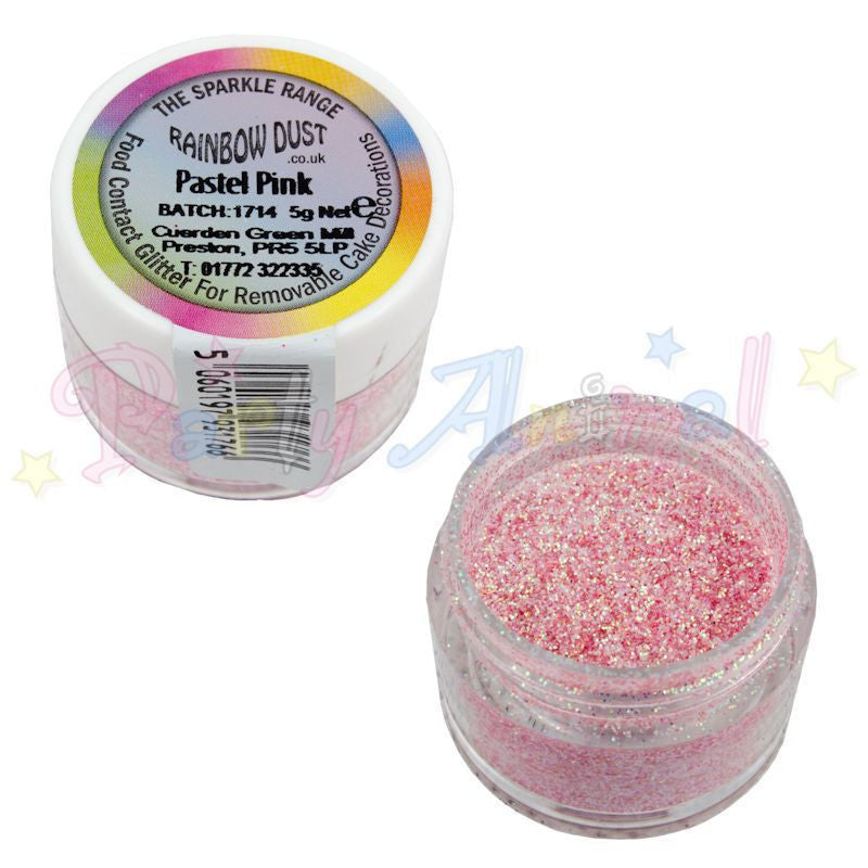 Rainbow Dust Glitter Sparkle Colours - PASTEL PINK